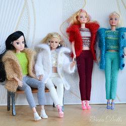 Пальто, кофты и свитера из мохера для Барби