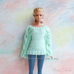 Свитер мятного цвета для Барби