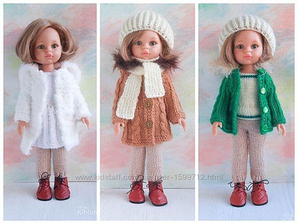 Вязаные зимние комплекты одежды для куклы Paola Reina