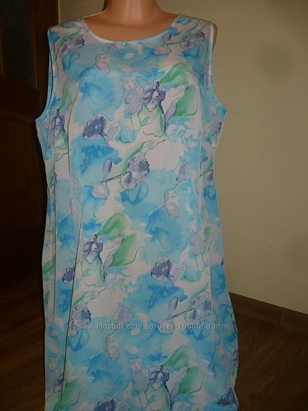 Платье летнее Бирюзовый цвет 50-52р.