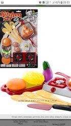 Набор посуды детская посудка игрушечная сковородка печка еда