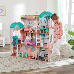 Кукольный домик. КидКрафт 65986 Кукольный дом Резиденция Камила LED. Большо