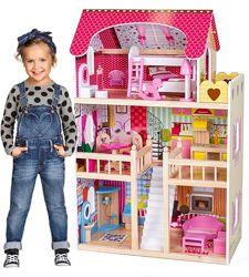 Кукольный домик для барби с мебелью подарок