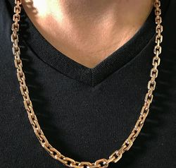 Серебряные цепи мужские с позолотой.