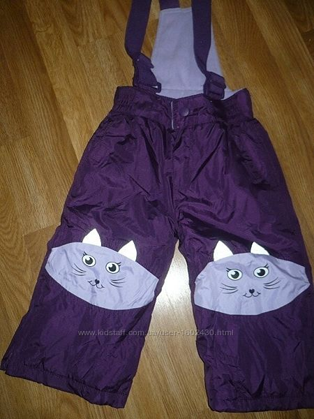 Штаны на брителях зимние 92р. Kiki&Koko фиолетовые
