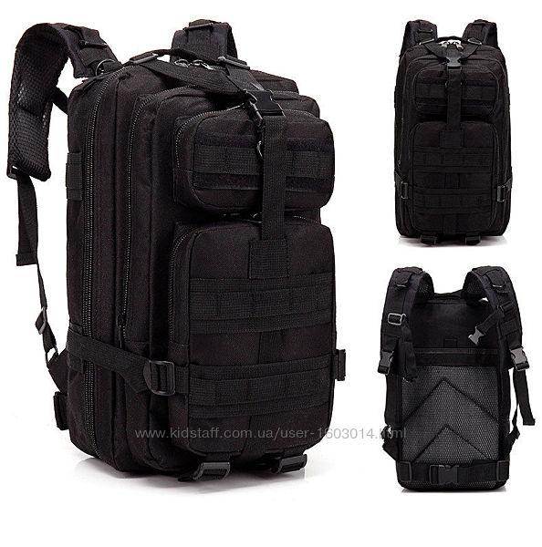 Тактический, походный, военный рюкзак Military. 25 L. Черный.  T410