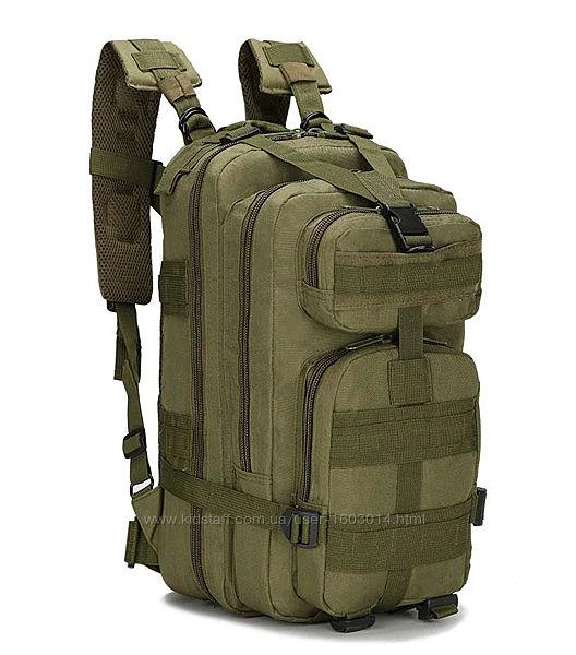 Тактический, военный, походный рюкзак Military. 25 L. Хаки. Милитари. / T 4