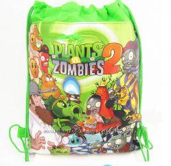 Рюкзак-мешок для игрушек, обуви, одежды Растения против зомби  Plants vs Z