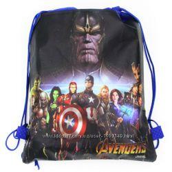 Рюкзак-мешок для игрушек Марвел, обуви, одежды Подарочная Сумка Супер Герои