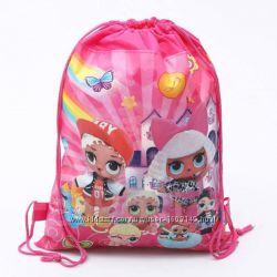 Рюкзак-мешок для игрушек Кукол ЛОЛ, обуви, одежды Подарочная Сумка пупси LO