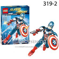 Конструктор Супер Героя Капитан Америка Марвел- Мстители KSZ серия lego 319