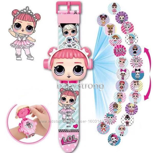 Проекционные детские часы Кукла ЛОЛ LOL - 24 вида изображения героев .