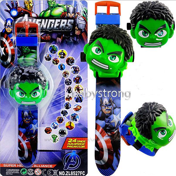 Проекционные детские часы Халк  Hulk  - 24 вида изображения героев