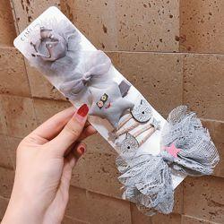 Набор заколок для девочек 6 штук Подарочный комплект номер 4