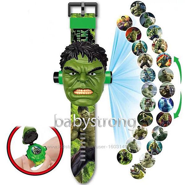 Проекционные детские часы Халк - Hulk - 24 вида изображения героев Марвел