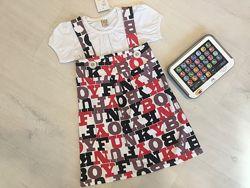 Новое красивое платье, сарафан на 3-4-5 г. цельный, бирка