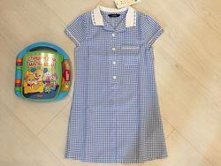 Новое фирменное красивое платье в клетку George на 2-3-4 г. , бирка
