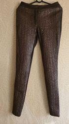 Штаны лосины леггинсы брюки кожа кожаные питон
