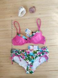 купальник triumph sloggi pink tropics hipster m