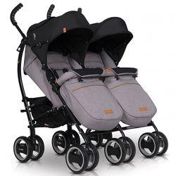 Прогулочная коляска EasyGo Comfort Duo для двойни трость