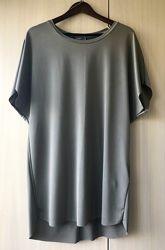 Объемное платье-балахон цвета хаки, туника Zara, S