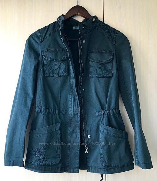 Джинсовая куртка Promod / XS / цвет темно-бирюзовый