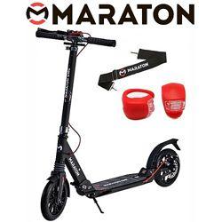 Самокат Maraton GMC Disc  LED фонарик 2020 Серый