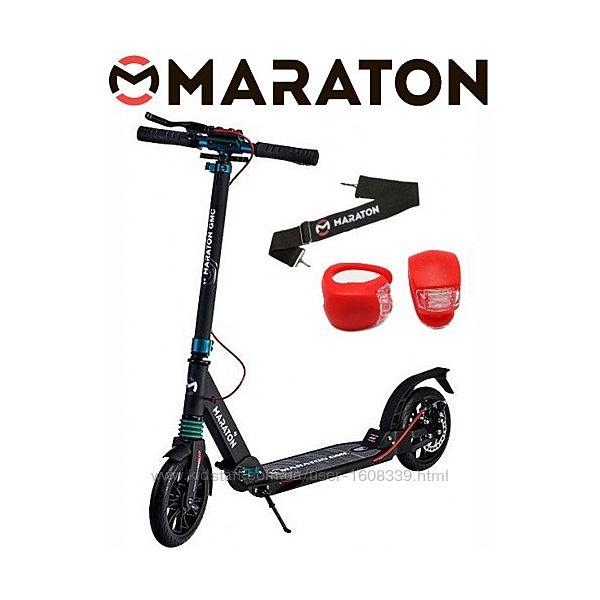 Самокат Maraton GMC Disc  LED фонарик 2020 черный