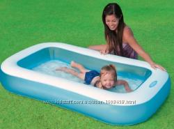 Бассейн надувной Intex для детей от 2х лет, 166х100х28см, 90л, 57403