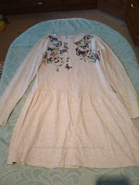 Платье H&M 8-10 лет с длинным рукавом