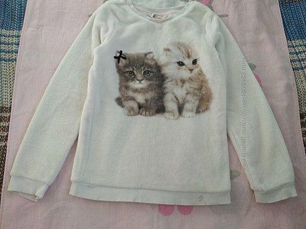 Пушистый свитерок меховушка H&M 8-10 лет