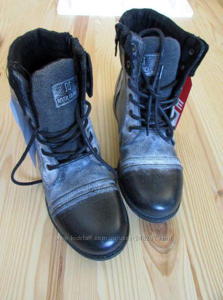 кожаные ботинки military river island р-р 37