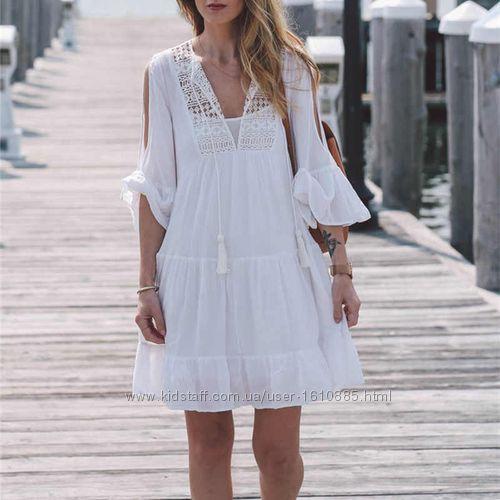 Летняя накидка. Пляжный халат. Пляжное платье.