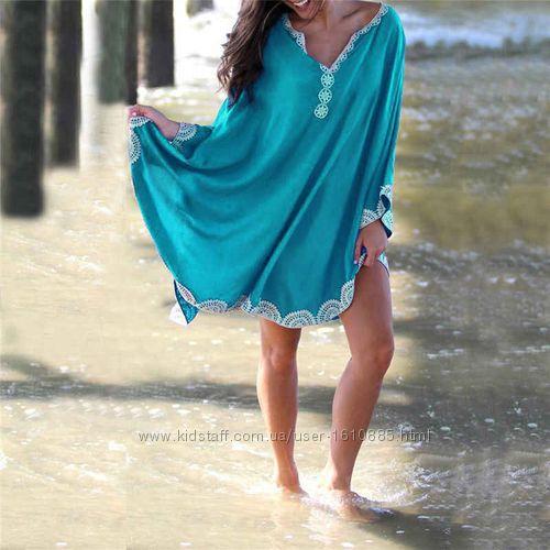 Пляжная туника. Пляжный халат. Парео. Пляжная накидка.