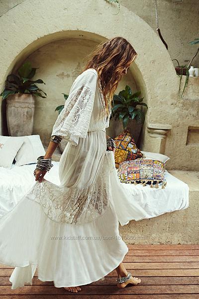 Платье пляжное белое, туника.