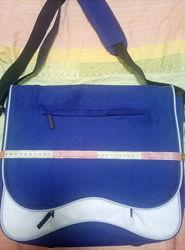 сумка-почтальонка, для ноутбука, с папкой