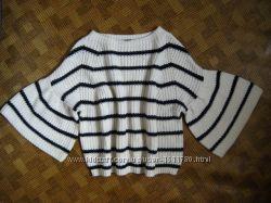 Объёмный свитер, джемпер - клёш рукав - marks & spencer - L - 46-48рр.