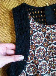 Жаккардовое платье, сарафан - парча - h&m - 36eur - S