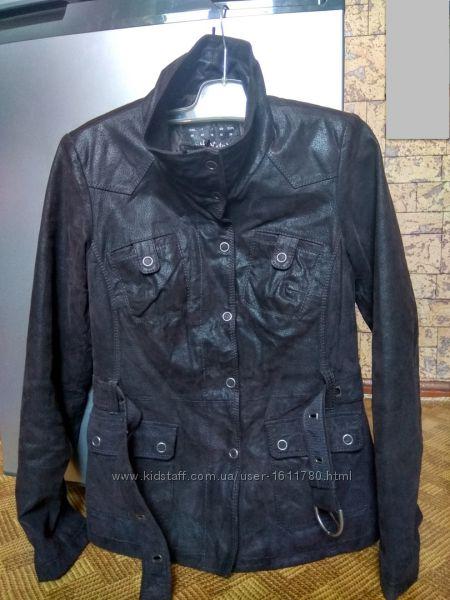 Куртка кожаная из кожи кожанка Tcm Tchibo Urban Nature / 42-44рр