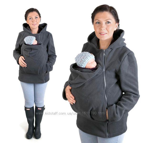 Кенгуру флиска кофта для мамы и ребёнка Agnes mama & baby - xl, xxl