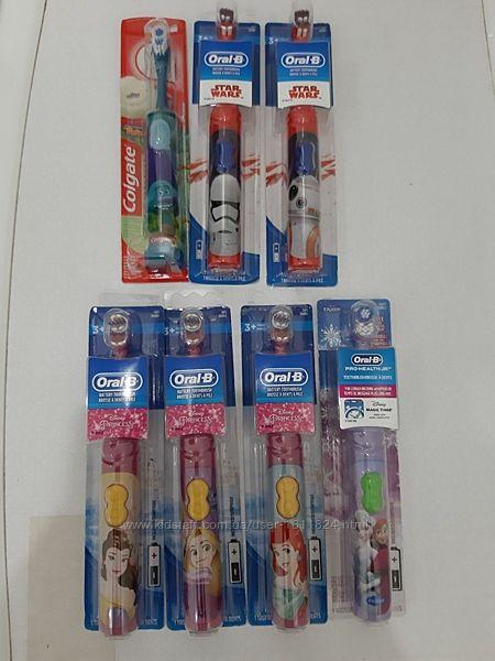 Электрическая детская зубная щётка Oral-B , Colgate от 3 лет орал би, Колге