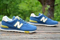 Оригинал New Balance Кроссовки мужские синие 574 ML574JHP  Нью беланс