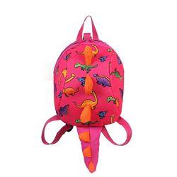 Акция Рюкзак динозавр c хвостом с ремешком и защелка детский розовый