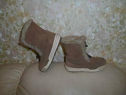 Ботинки сапоги детские зимние Ecco Hydromax, кожа, р. 30 ст. 19, 5 см.