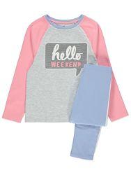 Пижама с длинным рукавом Hello Weekend фирма George