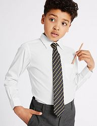 Новая белая рубашка m&s не требует глажки школьная Marks & Spencer