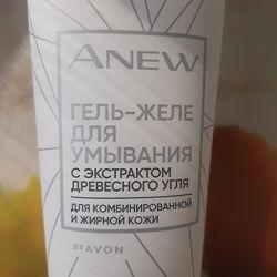 Гель для умывания с экстрактом древесного угля avon anew