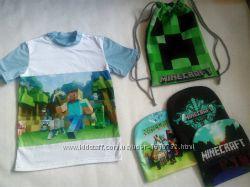 Футболка Майнкрафт Крипер Minecraft 116-152 рост
