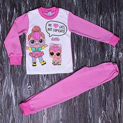 дитяча піжама куколки лол для дівчинки хлопок