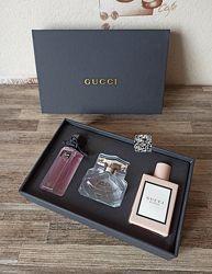 Подарочный набор парфюмов Gucci 3 в 1 по 30 мл, flora, bamboo, bloom